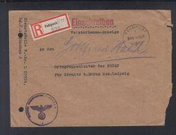 Dt. Reich Verstorbenen-Anzeige 1943 Feldpost 05924 An NSDAP Leipzig - Deutschland