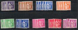 La Deuxième Série PAIX N° 363 à 371 Neuve Luxe Par 5 Exemplaires - France