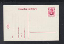 Dt. Reich Besetzung Belgien Zivilarbeiterpostkarte Ungebraucht - Besetzungen 1914-18