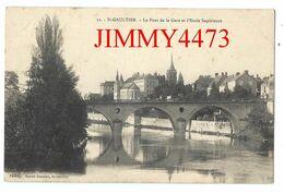 CPA - SAINT GAULTIER - Le Pont De La Gare Et L' Ecole Supérieure ( Arr. Le Blanc 36 Indre ) N°11 - Photo Marcel Rameau - Frankrijk