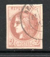 N° 40B Pâle TTB - 1870 Emission De Bordeaux