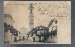 San Maurizio Chiesa Parrocchiale  VIAGGIATA 1902 Piccolo Strappetto COD.C.2149 - Chiese