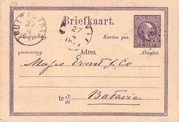 NETHERL. INDIA - BRIEFKAART 1877 - BATAVIA /AS138 - Netherlands Indies