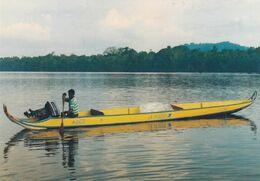 Pirogue Postale En Guyane - Post & Briefboten