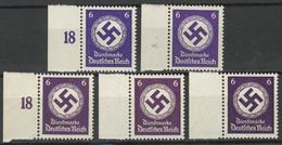 169 A/b/c Marken Mit Rand Platten- Und Walzendruck Komplett, ** - Dienstpost
