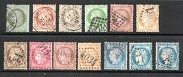 La Série 50/60 Avec Les 3 N°60 - 1871-1875 Cérès