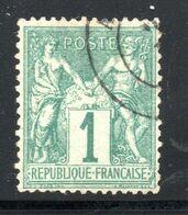 N° 61    1c Vert TB - 1876-1878 Sage (Type I)
