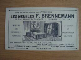 BUVARD LES MEUBLES F. BRENNEMENN HAYANGE MOSELLE - Vloeipapier