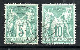 N° 64 Et 65    5c  Et 10c Verts TB - 1876-1878 Sage (Type I)