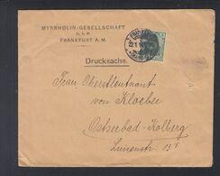 Dt. Reich Drucksache Myrhrholin-Gesellschaft Frankfurt Am Main Nach Kolberg - Deutschland