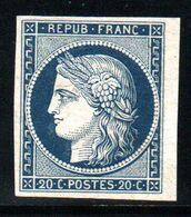 YT N° 8a Bdf - Non Emis Avec Certificat Robineau - Cote: 3400,00 € - Neuf Sans Gomme - 1849-1850 Ceres