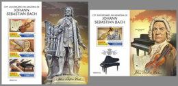 GUINEA BISSAU 2020 MNH Johan Sebastian Bach Composer Komponist Compositeur M/S+S/S - OFFICIAL ISSUE - DHQ2035 - Music