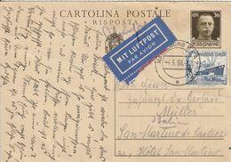 Allemagne Cachet Magdeburg Sur Entier Postal Italien Pour L'Italie 1938 - Germania