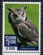 SIERRA  LEONE, 2018, BIRDS, OWLS, 1v - Uilen