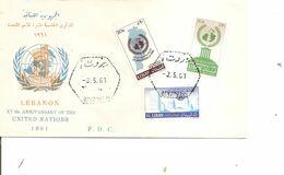 Liban ( FDC De 1961 à Voir) - Líbano