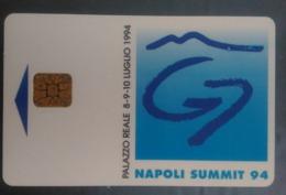 SCHEDA TELEFONICA ITALIANA - USI SPECIALI - STAMPA- NAPOLI SUMMIT 1994-- C&C 4037 - Collezioni