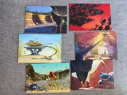 DISNEY Postcards, Lot Of 10 A Bug's Life Postcards, The Art Of Pixar - Other