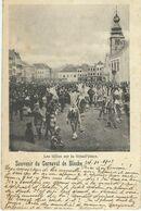 Souvenir Du Carnaval De BINCHE - Les Gilles Sur La Grand'Place - Cachet De La Poste 1903 - Binche
