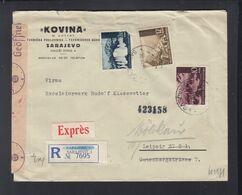 Kroatien Croatia Expresbrief 1944 Nach Leipzig - Kroatien
