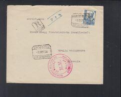 Spanien R-Brief 1938 San Sebastian Censura Militar - 1931-Heute: 2. Rep. - ... Juan Carlos I