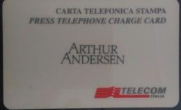 SCHEDA TELEFONICA ITALIANA - USI SPECIALI - STAMPA- ARTHUR ANDERSEN- C&C 4042 - Collezioni