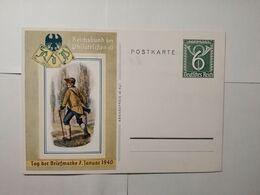 Deutsches Reich  Postkarte  Tag Der Briefmarke 1940 - Allemagne