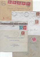 Lot De 6 Env. 1942-43 - LOT Et GARONNE - Postmark Collection (Covers)