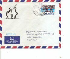 Zaire ( Lettre Par Avion De 1996 De Kinshasa Vers La Belgique à Voir) - 1990-96: Oblitérés