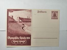Deutsches Reich  Postkarte  Olympische 1936 - Allemagne