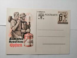 Deutsches Reich  Postkarte  KÄMPFEN ARBEITEN OPFERN - Allemagne