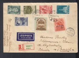 Ungarn Hungary Luftpost R-Brief 1939 Budapest Nach Basel - Ungarn
