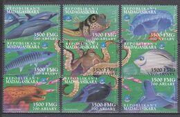 Madagaskar Malagasy 1999 - Mi.Nr. 2256 - 2264 - Postfrisch MNH - Tiere Animals Fische Fishes - Peces