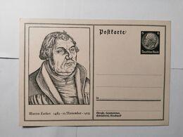 Deutsches Reich  Postkarte Martin Luther 1933 - Allemagne