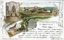 OLD POSTCARD - LITHO - TIPO GRUSS - POZDRAV Z RATAJ - VIAGGIATA 14.08.1900 - T36 - Czech Republic