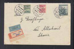 CSR Luftpost R-Brief 1937 Bilina Nach Schweiz - Tschechoslowakei/CSSR