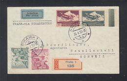 CSR Luftpost R-Brief 1938 Prag Nach Schweiz - Tschechoslowakei/CSSR