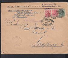 Dt. Reich Grossbrief 1919 Raab Karcher Karlsruhe Nach Straßburg Zensur - Deutschland