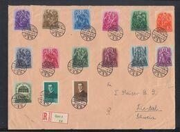 Ungarn Hungary Grossbrief 1938 Ujpest Nach Schweiz - Ungarn