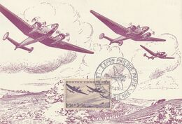 Carte Maximum -  Exposition Philatélique - La Poste Aérienne - 1927-1959 Used
