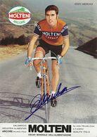 CARTE CYCLISME EDDY MERCKX SIGNEE TEAM MOLTENI 1973 ( FORMAT 17 X 24 ) - Ciclismo