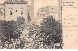 Egypte - N°66196 - Arrivée Du Tapis Sacré Au Caire - Carte Avec Cachet Bateaux - Caïro