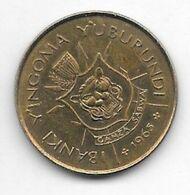 *burundi 1 Franc 1965  Km 6  Xf+ ( Unc With Spots) - Burundi