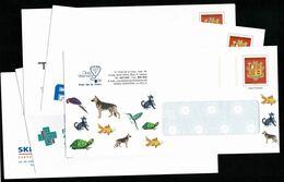 ANDORRE ANDORRA Superbe Lot De 5 PAP Prêt à Poster Commerciaux Divers Thèmes Illustrés  Tous Différents Lot 2   LUXE - Postwaardestukken & Prêts-à-poster