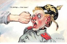 Illustrateur - N°63114 - Dufresne - Un Poing ... C'est Tout ! - Soldat Allemant Recevant Un Coup De Poing - Otros Ilustradores
