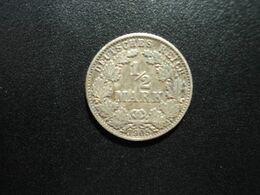 ALLEMAGNE * :  1/2 MARK   1905 G    KM 17     SUP - [ 2] 1871-1918: Deutsches Kaiserreich