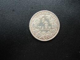 ALLEMAGNE * :  1/2 MARK   1912 A     KM 17     SUP - [ 2] 1871-1918: Deutsches Kaiserreich