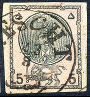 Stamp Iran Persia 1876 5s Used Lot31 - Irán