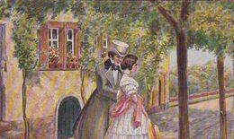 AK Künstlerkarte Max Dutzauer - Der Erste Ausgang - Mann Und Frau - Romantik - Liebespaar - Ca. 1920 (51795) - Altre Illustrazioni