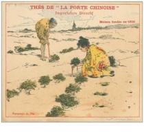 Publicite .n° 40290 . Thes A La Porte Chinoise.12 Cm X 10 Cm . Chine.nice . Repiquage Du Thé - Werbepostkarten