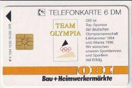 TK 28148 GERMANY - Chip K1594 10.93 Team Olympia & Obi 16.000 Ex - Jeux Olympiques